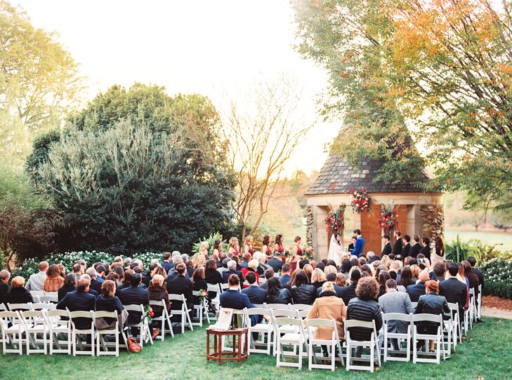 Outdoor Ceremony at The Graylyn Estate under a Gazebo