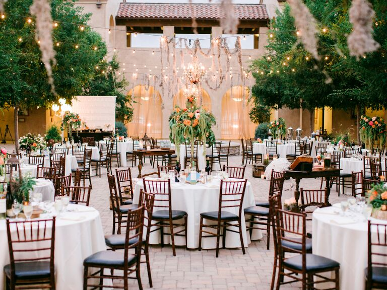 elegant, natural outdoor wedding reception