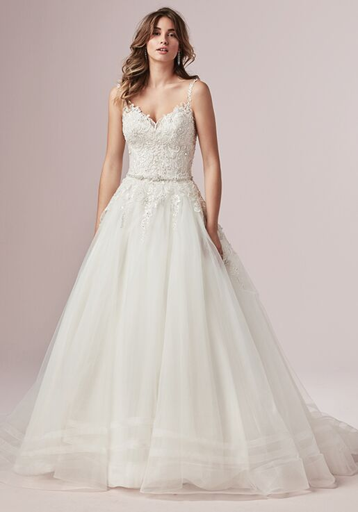 Image result for beaded ball gown wedding dress with straps