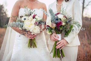 Complementary Same-Sex Bridal Bouquets