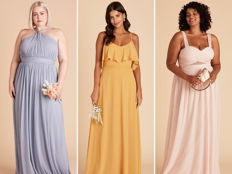 Affordable bridesmaid dresses in coral, blush and teal