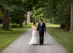 More than 100 guests traveled to New York's Hudson Valley to witness Tina (39 and a graphic designer) and Brett Gaudin (34 and works in marketing) wed