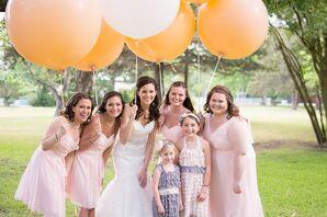Blush Chiffon Bridesmaids and Maid of Honor Dress