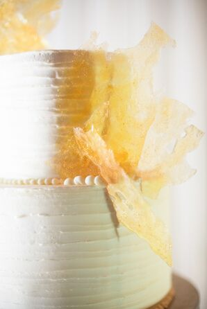 White and Yellow Buttercream Wedding Cake