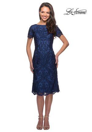 La Femme Evening 25633 Blue Mother Of The Bride Dress