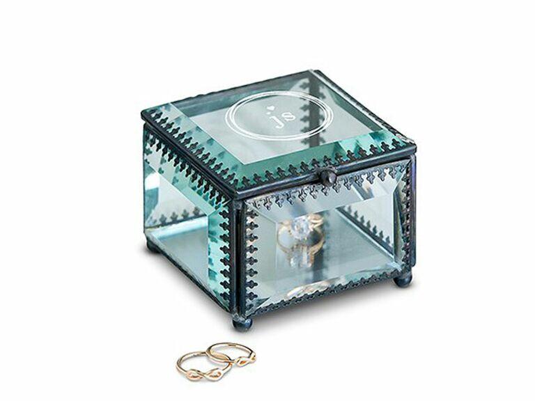 vintage monogram jewelry box