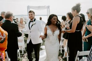 Ceremony Recessional at Belle Mer in Newport, Rhode Island