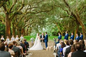 Classic Outdoor Ceremony at Legare Waring House in Charleston, South Carolina