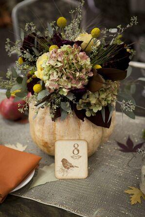 Autumnal Pumpkin Centerpieces