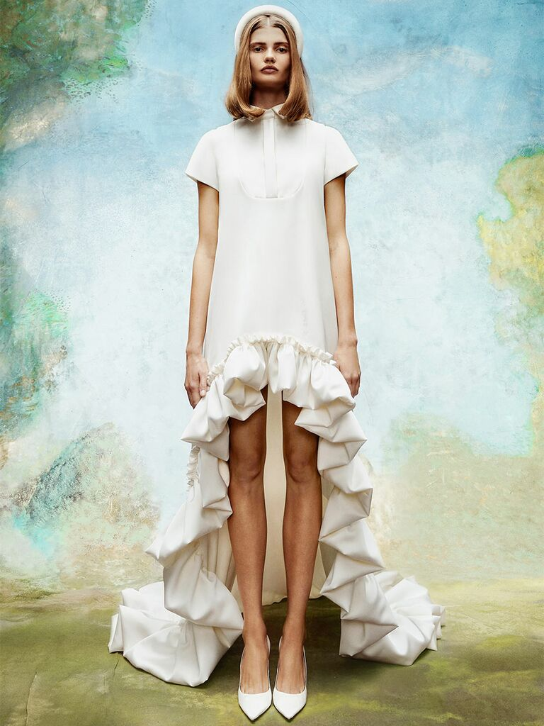Viktor&Rolf wedding dress high-low gown
