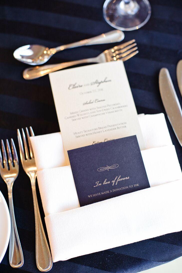 Elegant Menu Card