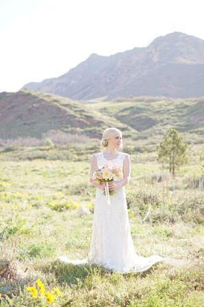 Lace Illusion-Back Maggie Sottero Wedding Dress