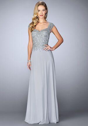 La Femme Evening 23286 Grey Mother Of The Bride Dress