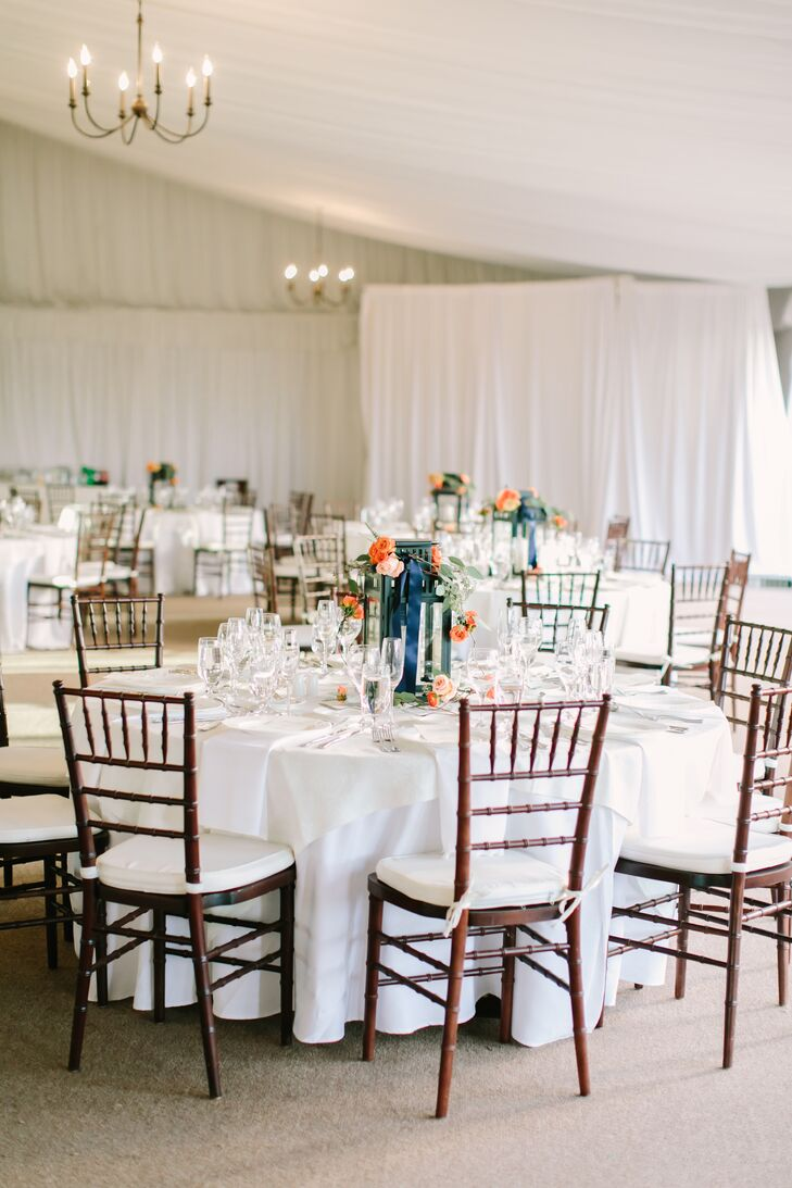 Country Club Reception with Crisp White Draping and Linens