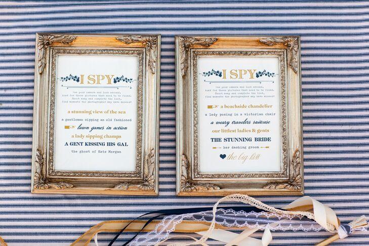 Gold Framed Vintage Wedding Signs