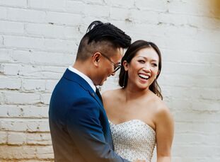 Though DTLA played a role in the design of Vanessa Ying (31 and works in advertising sales) and Mike Tinio's (35 and an UX architect) wedding day, the