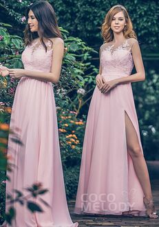 CocoMelody Bridesmaid Dresses PR3595 Illusion Bridesmaid Dress