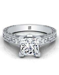 RockHer Elegant Princess Cut Engagement Ring
