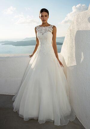 03eb7313e5e4c Illusion Neckline Wedding Dresses | The Knot