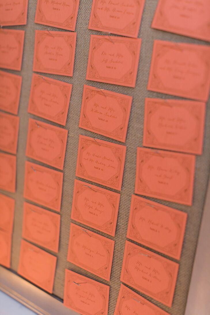 Coral Square Escort Cards