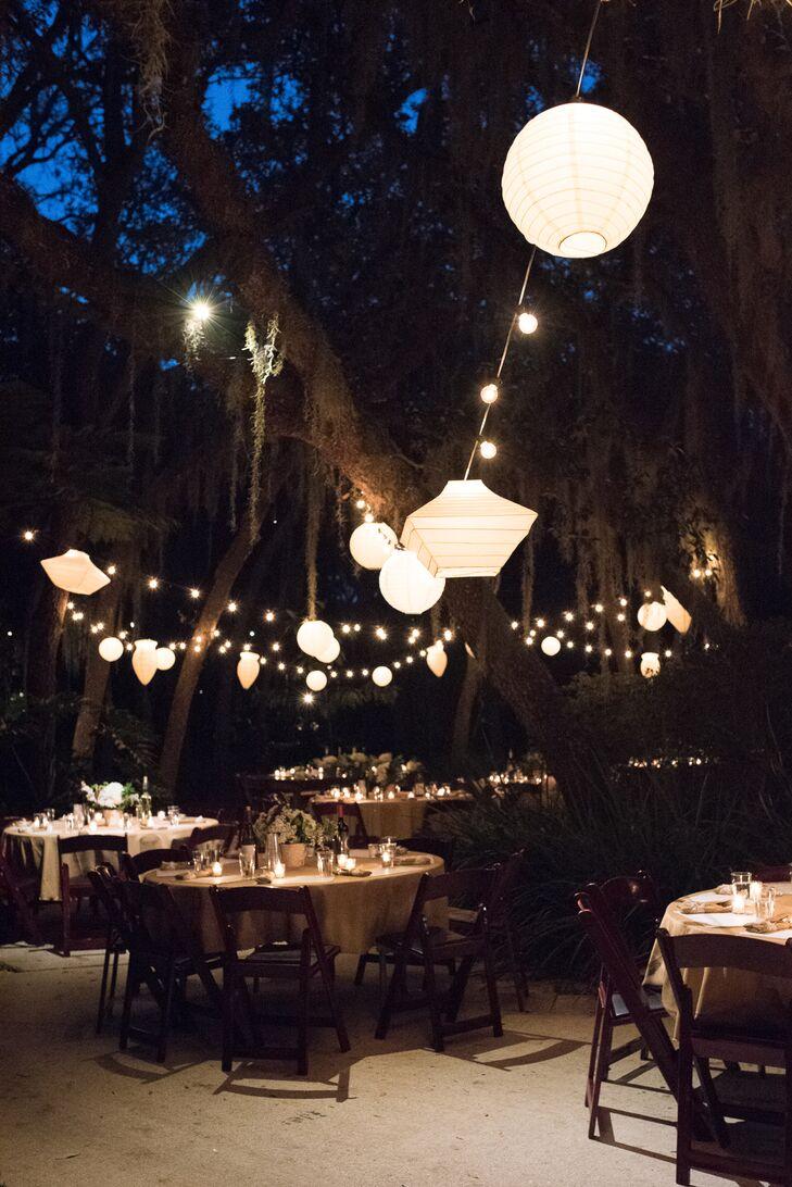 Backyard Wedding Lantern Lighting