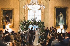Romantic, Garden-Inspired Rose and Vine Chuppah