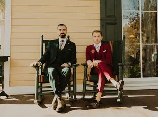Eric and Daniel (Dan) were advocates of bypassing tradition from the start, wanting to design a celebration that reflected their unique style and pers