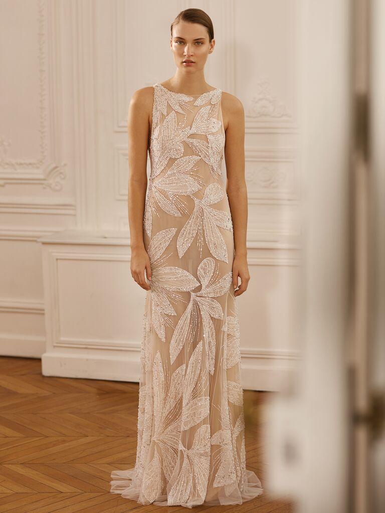 Dana Harel Spring 2020 Bridal Collection embellished high-neck wedding dress
