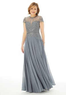 MGNY 72221 Gray Mother Of The Bride Dress