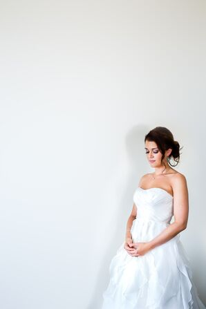 Beachy Strapless J.Crew Wedding Gown