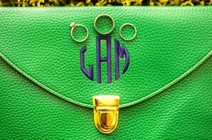 Colorful Monogramed Wedding Clutch