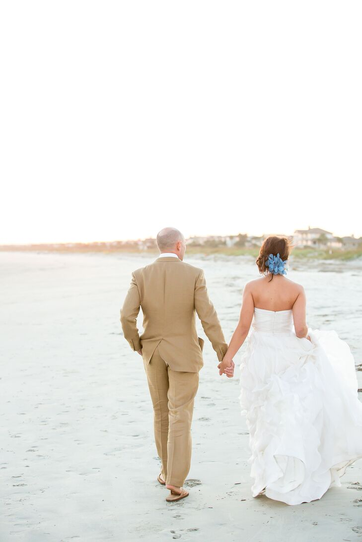 Casual J.Crew Beachy Wedding Attire