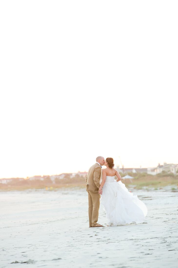 """Since we love to travel, we initially wanted a destination wedding,"" says Linsey. ""But since we live in Charleston, a