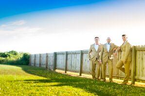 Khaki J.Crew Groomsmen Formalwear