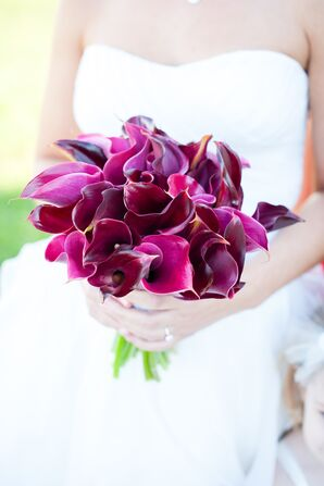Red and Purple Calla Lilly Bridal Bouquet