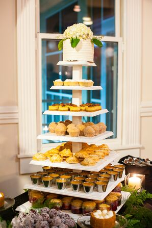 Mixed Cupcake Wedding Dessert Tower