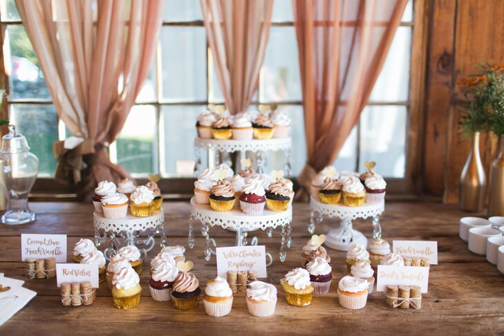 Cupcake Display with Calligraphed Flavor Cards
