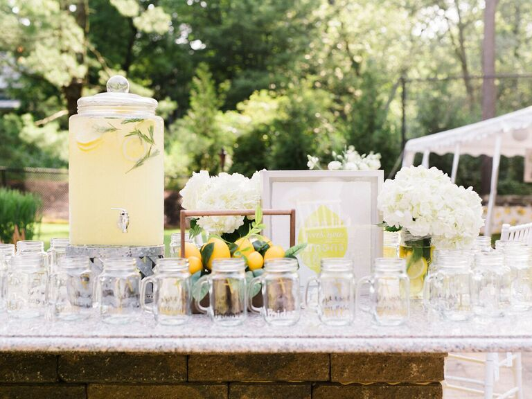 wedding drink ideas lemon drop