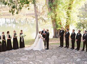 Black and Grey Outdoor Wedding Ceremony