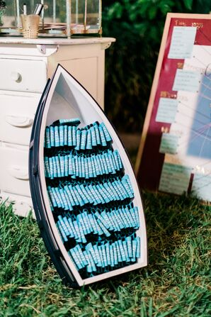 Row Boat Wedding Favor Display