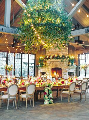 Romantic Indoor Reception at Old Edwards Inn & Spa in Highlands, North Carolina