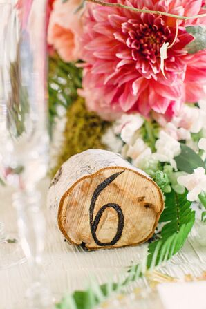 DIY Wood Table Numbers