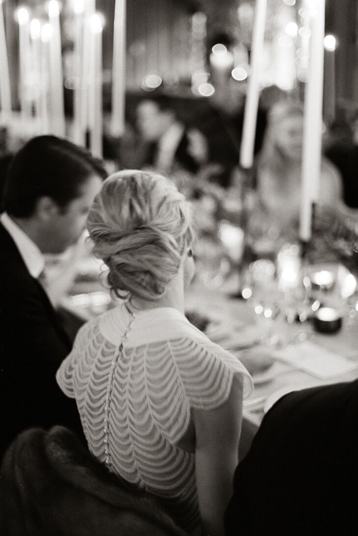 Elegant Twisted Bridal Updo