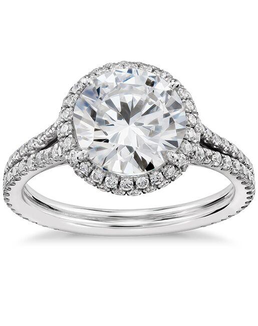 Blue Nile Studio Round Cut Engagement Ring