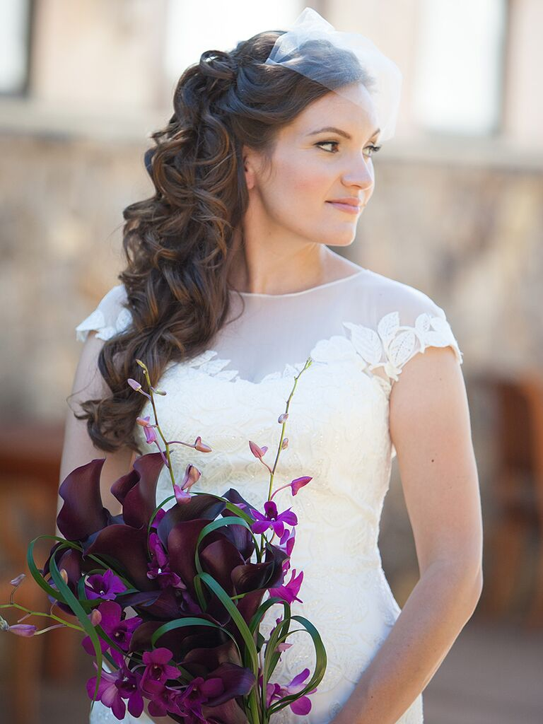 Beautiful Wedding Hairstyles For Long Hair Styled With Veils
