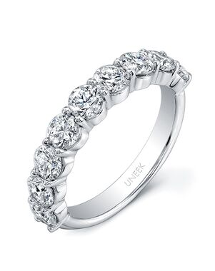 Uneek Fine Jewelry UWB04 White Gold Wedding Ring