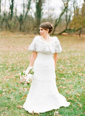 Tiered A-Line Augusta Jones Wedding Dress