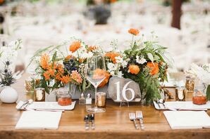 Reception Centerpiece with Orange Marigolds