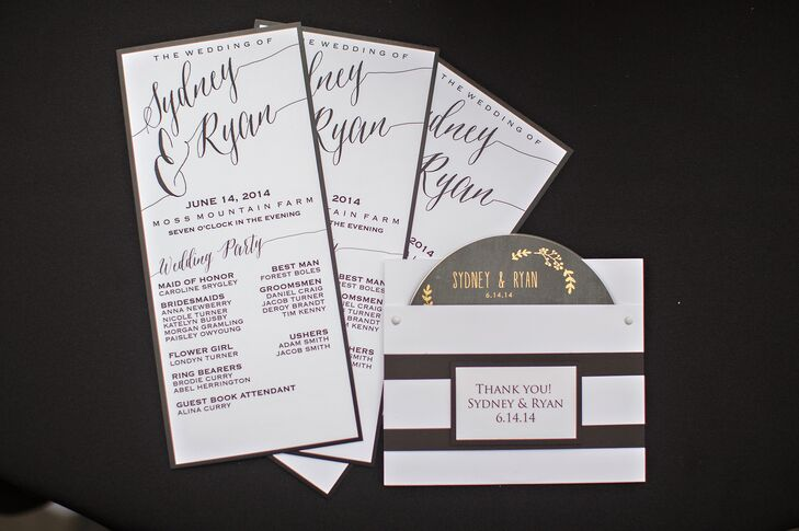 Black, White, Gold Invitation Suite