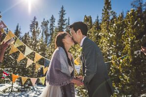 Tuyen and Simon First Kiss in Colorado